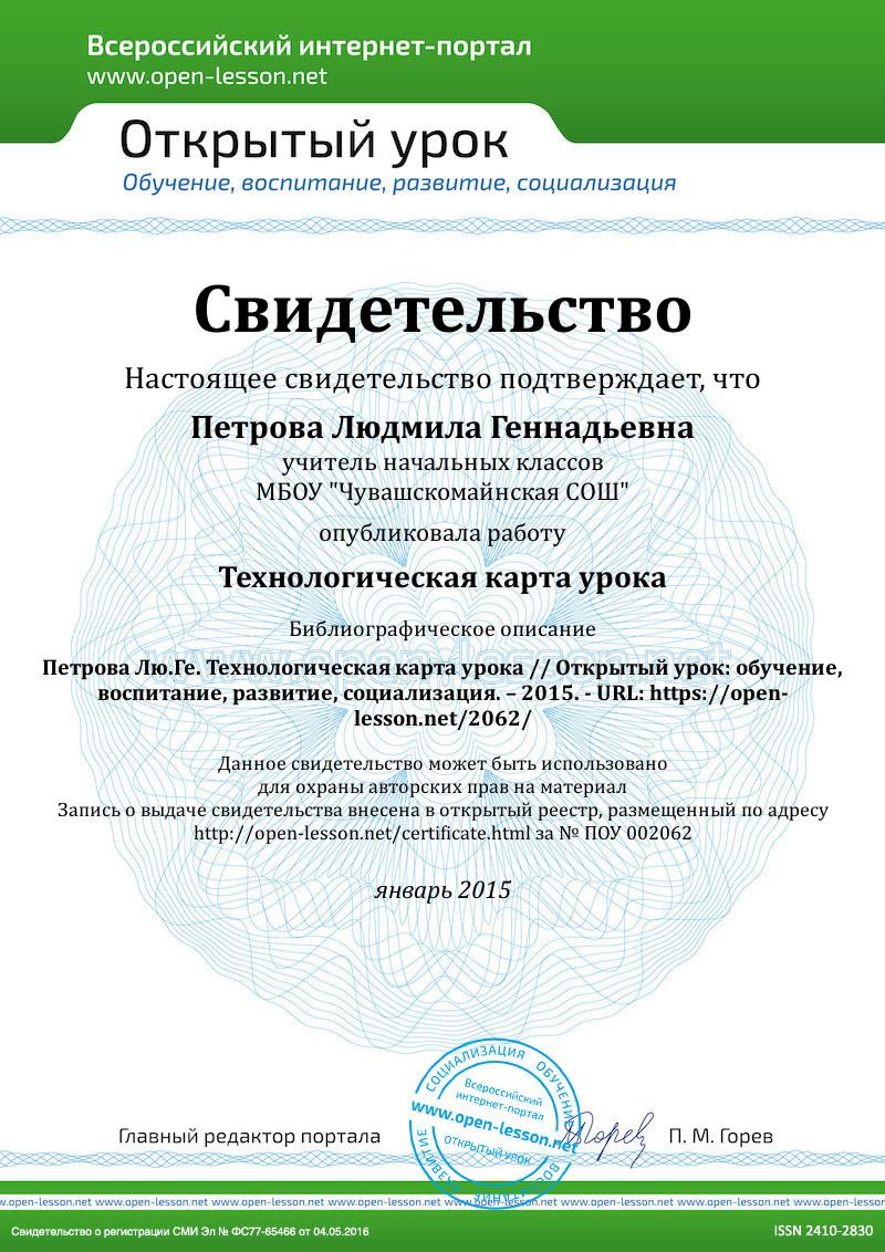 Технологические карты уроков 1 класс школа россии фгос с ууд