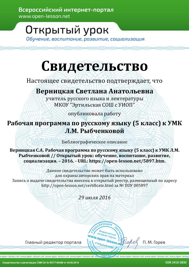 Календарно-тематическое планирование по русскому языку 5 класс